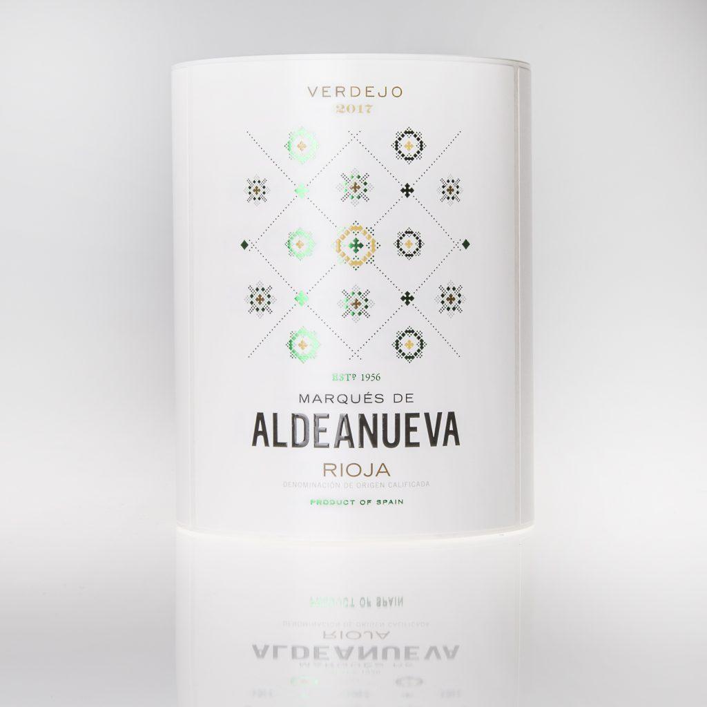 Etiqueta de vino Marqués de Aldeanueva Rioja