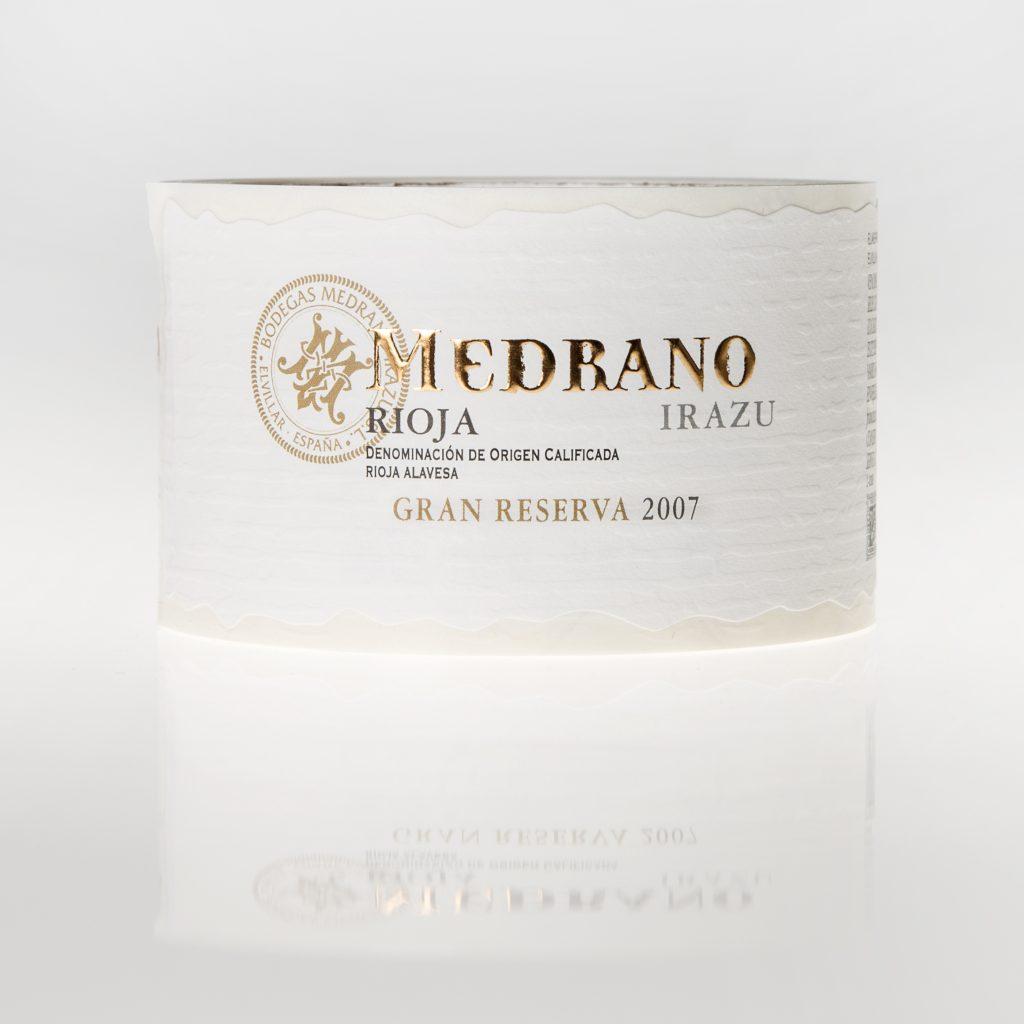 Etiqueta de vino Medrano Rioja