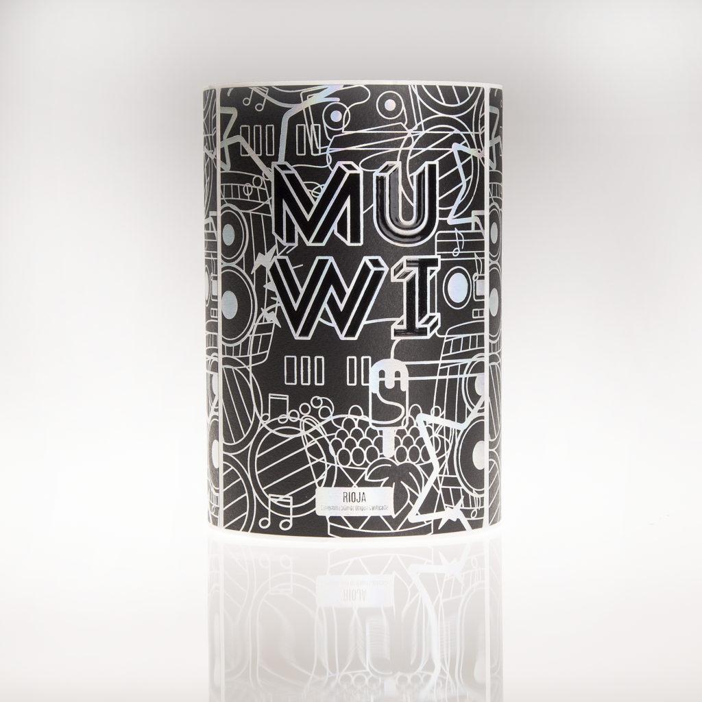 Etiqueta de vino MUWI plata