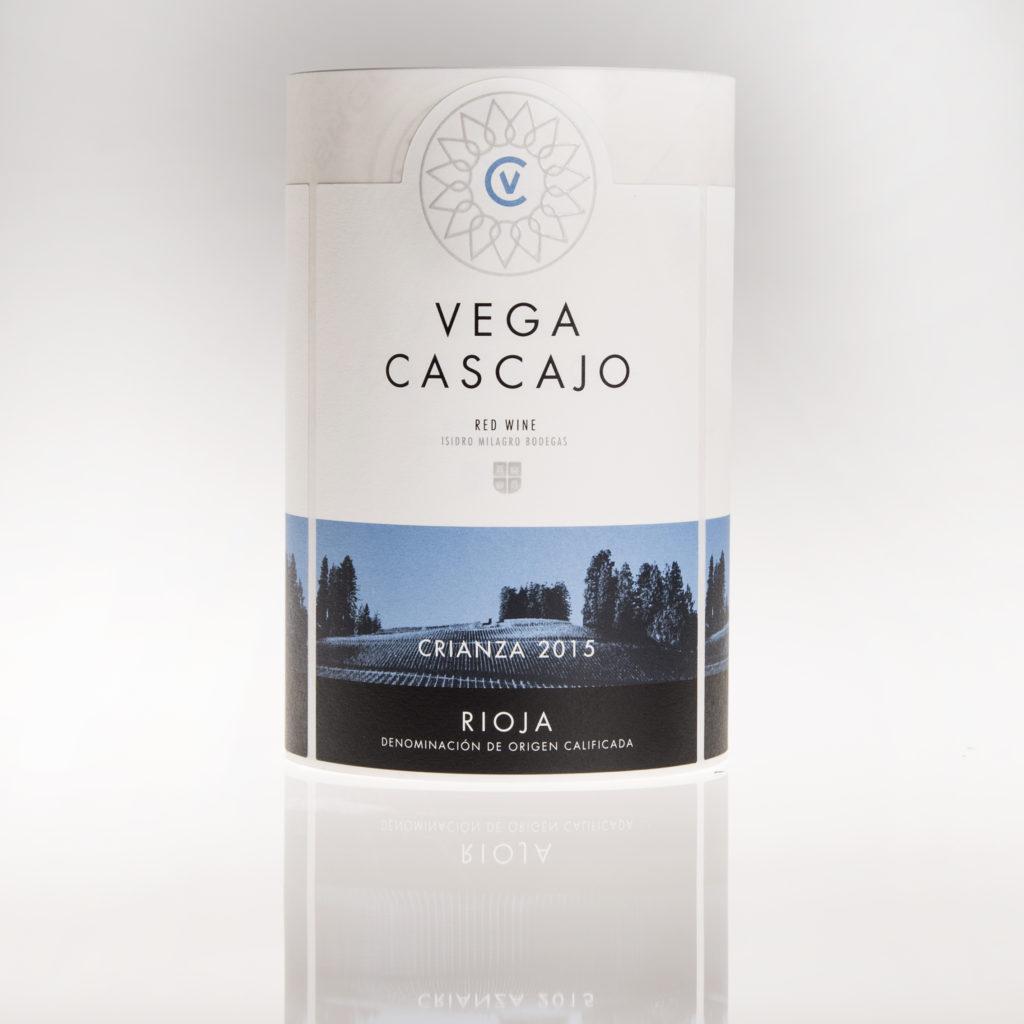 Etiqueta de vino Vega Cascajo ciranza