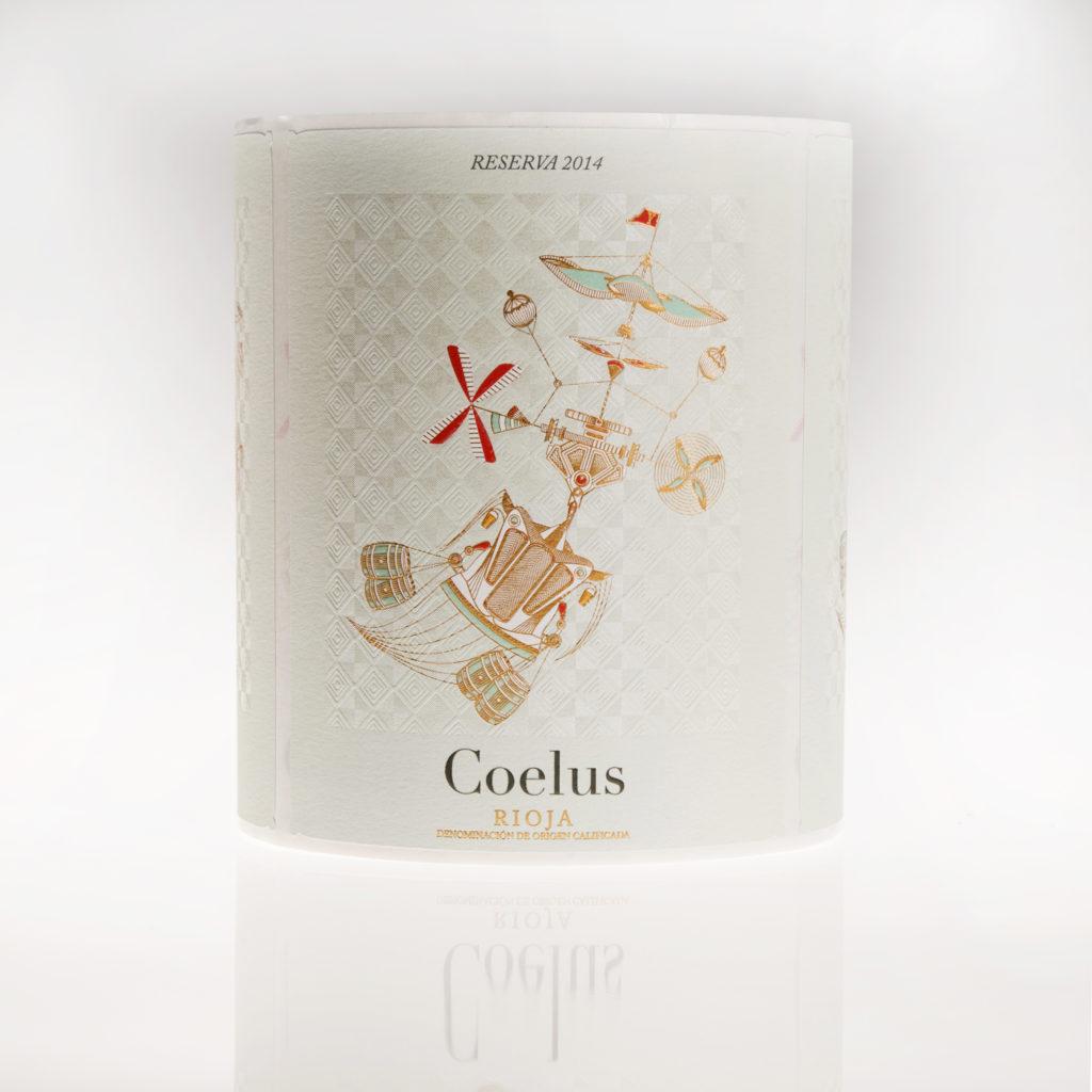 Etiqueta de vino Coelus reserva