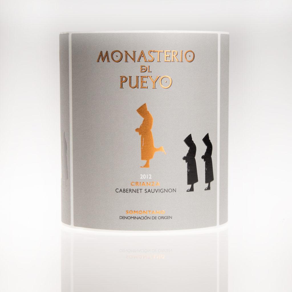 Etiqueta de vino monasterio del Pueyo